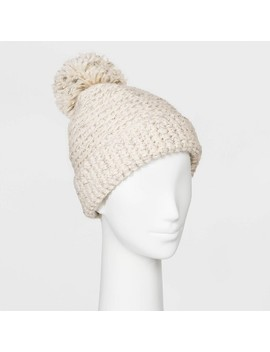 Women's Cuffed Knit Beanie With Lining   Universal Thread™ One Size by Universal Thread