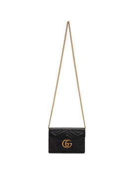 Black Mini Gg Marmont Shoulder Bag by Gucci