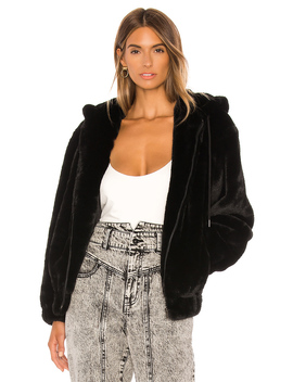 Gigi Zip Faux Fur Jacket by Bardot