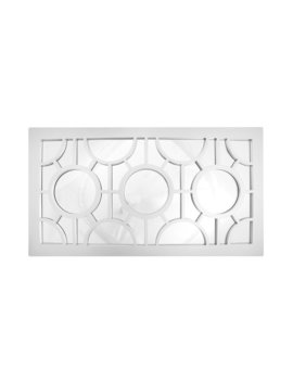 Lily Geometrical Circles Decorative Rectangular Wall Mirror by Mistana