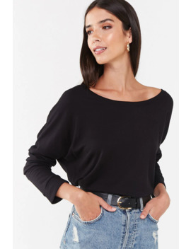 Fleece Dropped Sleeve Top by Forever 21