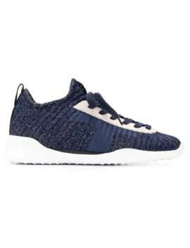 Lace Up Knit Sneakers by Tod's