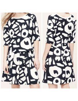 Ann Taylor Loft Forever Navy Pleated Bedrock Skirt Sz 6 $70 by Ann Taylor