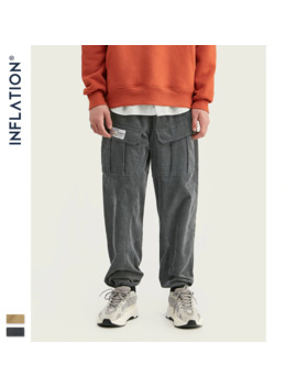 Inflation 2019 Collection Men Casual Corduroy Jogger Pants Men Loose Fit Corduroy Overalls Solid Color Casual Men Pants 93319 W by Ali Express.Com