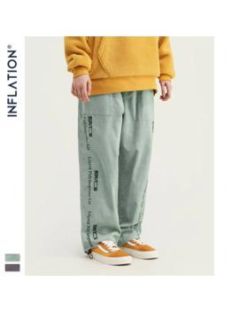 Inflation 2019 Collection Men Casual Pants Wide Wale Men Corduroy Slacks Loose Fit Overalls Solid Color Men Corduroy Pant 93389 W by Ali Express.Com