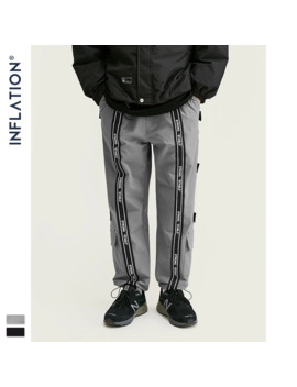 Inflation Windbreaker Men Jogger Pants With Woven Tapes Loose Fit Jogger Pants 2019 Streetwear Men Casual Jogger Pants 93455 W by Ali Express.Com