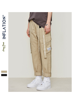 Inflation Track Pants Men Fashion Brand Trousers Men Streetwear Mens Joggers Pants Cargo Pants Unisex Hip Hop Trousers 81164 W by Ali Express.Com