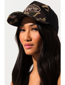 Von Dutch Upside Down Camo Trucker Hat by Akira