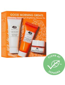 Good Morning Greats: Cleansing, Hydrating & Brightening Skincare Trio by Origins