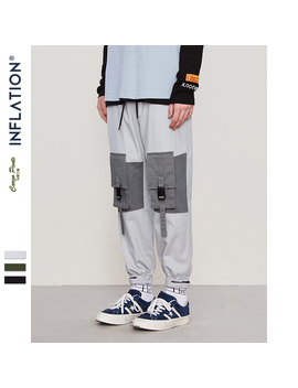 Inflation Men Clothes Streetwear Cargo Pants 2019 Autumn Winter Pantalon Homme Fashion Hip Hop Men Trousers Multi Pockets 93301 W by Ali Express.Com