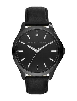 Men's Hampton Leather Watch   0.01 Ctw, 46mm by Ax Armani Exchange