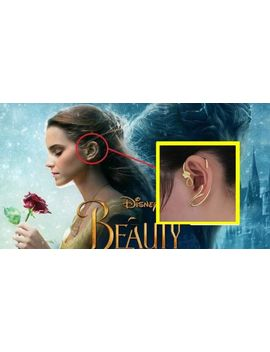Beauty And The Beast Earrings Ear Cuff Belle Cosplay Jewelry Gold Plated Rose by S&C