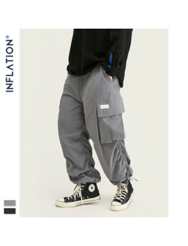 Inflation Fashion Pleated Jogger Pants Men Streetwear Loose Solid Track Pant 2019 Fw Hip Hop Loose Fit Harem Trousers Men 93452 W by Ali Express.Com
