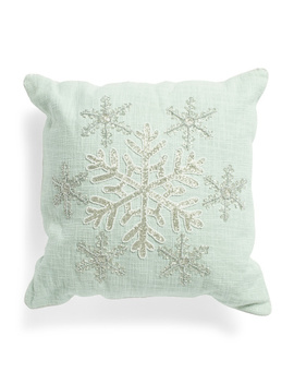 18x18 Embroidered Snowflake Pillow by Tj Maxx