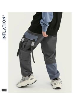 Inflation Autumn Collection Men Cargo Pants Loose Fit Men Thin Elastic Waist Men Track Pants Streetwear Mens Cargo Pants 93378 W by Ali Express.Com