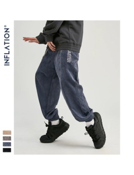 Inflation 2019 Collection Men Casual Corduroy Jogger Pants Men Loose Fit Corduroy Overalls Casual Pants Solid Color 93305 W by Ali Express.Com