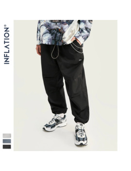 Inflation 2019 Fw Collection Men Cargo Pants Skater Fit Men Thin Cargo Pants Elastic Waist Men Streetwear Track Pants 93404 W by Ali Express.Com