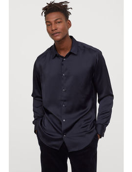 Satynowa Koszula Regular Fit by H&M