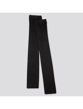 Women Heattech Knitted Ribbed Leg Warmers by Uniqlo