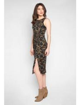 Camouflage Twist Front Midi Dress by Wet Seal