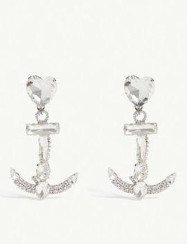 Heart Anchor Clip On Earrings by Alessandra Rich