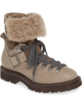 Genuine Shearling Lined Hiking Boot by Brunello Cucinelli