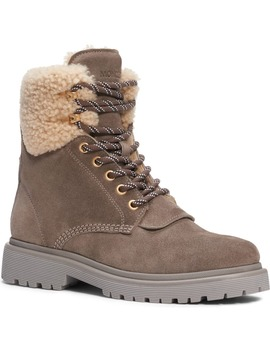 Patty Genuine Shearling Trim Boot by Moncler