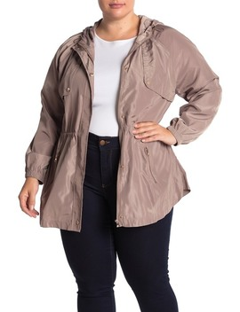 Hooded Anorak (Plus Size) by Blu Pepper