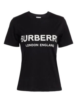 Shotover Slim Fit Burberry Logo T Shirt by Burberry