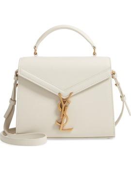 Mini Cassandre Leather Top Handle Bag by Saint Laurent