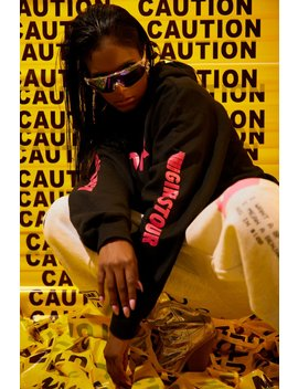 Girls Tour Caution Hoodie Hot Pink by Sorella
