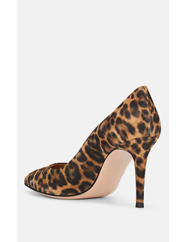 """Gianvito"" Leopard Print Suede Pumps by Gianvito Rossi"