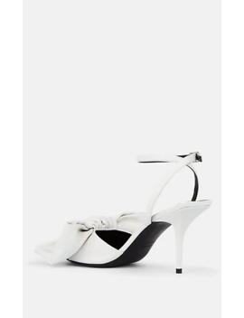 Bow Detailed Leather Ankle Strap Sandals by Balenciaga