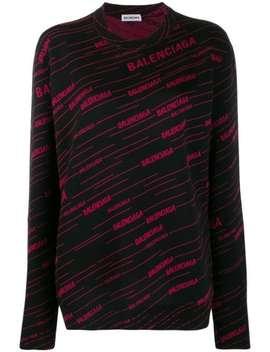 Diagonal Logo Sweater by Balenciaga