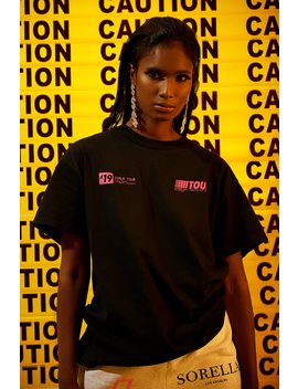 Sorella Caution T Shirt Pink by Sorella