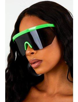 Neon Green Press Sunglasses by Sorella