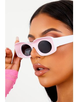 Pink Inverted Frame Sunglasses by Sorella