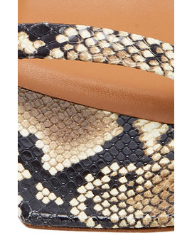 Tanya Snake Effect Leather Sandals by By Far