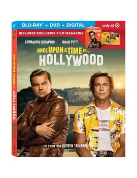 Once Upon A Time In Hollywood (Target Exclusive) (Blu Ray + Dvd + Digital) by Sony Pictures