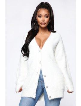 Pretty Special Fuzzy Cardigan   Ivory by Fashion Nova