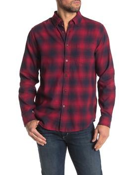 Plaid Print Ombre Medium Weight Flannel Shirt by Joe Fresh