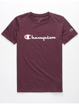 Champion Heritage Purple Boys T Shirt by Champion