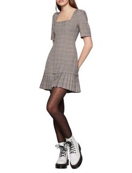 Pleated Plaid Mini Dress by Bcbgeneration