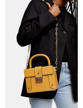 Strobe Mustard Boxy Bag by Topshop