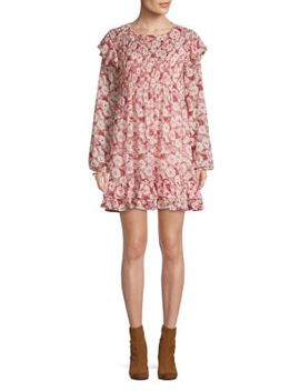 These Dreams Pleated Floral Trapeze Dress by Free People