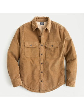 Corduroy Shirt Jacket With Sherpa Lining by J.Crew
