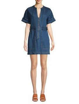 Dream On Denim Mini Dress by Free People