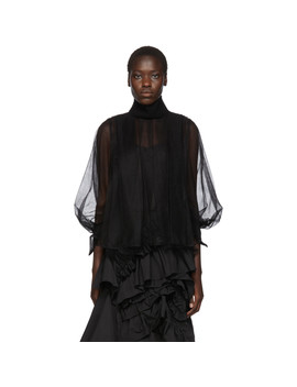 Black Tulle Blouse by Chika Kisada