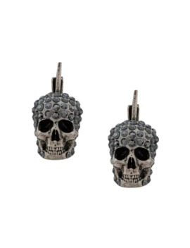 Pave Skull Stud Earrings by Alexander Mc Queen