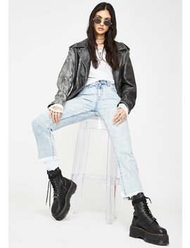 Tracey Clean Classic Straight Leg Jeans by Hidden Denim